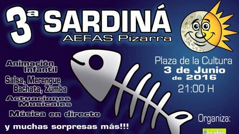 El próximo viernes se celebrará la tercera sardiná en Pizarra, organizada por la asociación de Enfermos de Alzhéimer, Familiares y Similares de la localidad con el fin de recaudar fondos para el colectivo