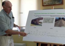 Comienzan las labores de rehabilitación del puente del Viar en Cantillana con el objetivo de reparar las fisuras que presenta uno de los estribos de la infraestructura y evitar así posibles desprendimientos