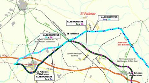 Alcaldes sevillanos y gaditanos de los municipios cercanos a la carretera N-IV exigen al Gobierno central las obras del desdoble de la vía y liberar la AP-4