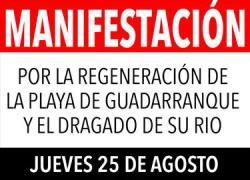 Los vecinos y vecinas de San Roque se manifiestan mañana para exigir a la Autoridad Portuaria la regeneración de la playa de Guadarranque y el dragado del río