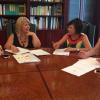 La asociación jerezana de mujeres 'Páginas Violeta' presenta sus actividades contra de la violencia de género destacando la colocación de un mural en vía pública