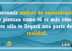 Consumir medios de comunicación que piensan como tú es más cómodo, pero sólo te llegará una parte de la realidad – Ponte al día, lee prensa. EMA-RTV con la alfabetización mediática