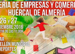 Huércal de Almería celebra la primera edición de la 'Feria de Empresas y Comercios' con el objetivo de promocionar y fomentar la actividad comercial local