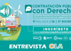FAECTA participa en las jornadas 'Contratación Pública con Derechos', un encuentro municipalista que se celebra entre el 16 y el 17 de diciembre en Málaga