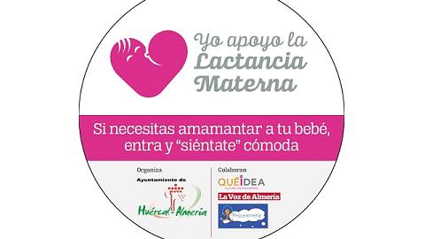 """Los comercios de Huércal de Almería participan en la campaña 'Si necesitas amantar a tu bebé, entra y """"siéntate"""" cómoda' de apoyo a la lactancia materna"""