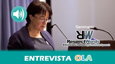 Trinidad Núñez, profesora de la Universidad de Sevilla, incide en la importancia de la formación de los y las periodistas para derribar los discursos de odio