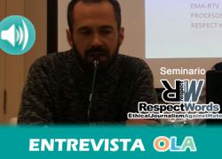 """""""La ciudadanía conlleva una responsabilidad al enfrentarse a los medios y no solo ser espectadores pasivos"""", Paco Aguaza, coordinador de la edición del código ético del proyecto Respect Words"""