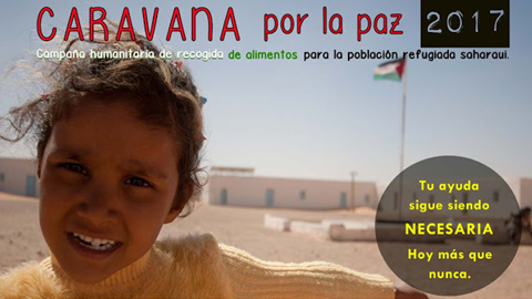 500 kg de alimentos, un lote de libros, camas articuladas, sillas de rueda y andadores son donados a la 'Caravana por la paz' en San Juan del Puerto