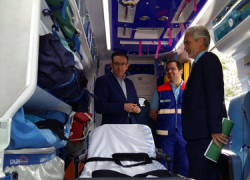 Los vecinos y vecinas de la Sierra Norte de Huelva cuentan con una nueva ambulancia de alta capacidad para atender emergencias en la zona