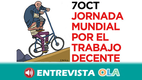 CCOO sale este sábado a la calle en la Jornada Mundial por el Trabajo Decente para combatir la precariedad