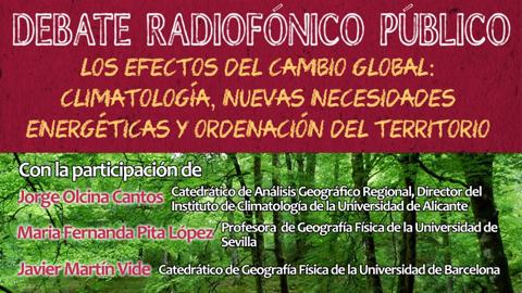 """EMA-RTV celebra el cuarto debate radiofónico """"Frecuencia Climática"""" para abordar el cambio global y el impacto ambiental derivado de las actividades humanas sobre el planeta"""