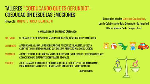 El AMPA del colegio San Pedro Crisólogo de San Juan de Aznalfarache, promueve talleres de coeducación en igualdad