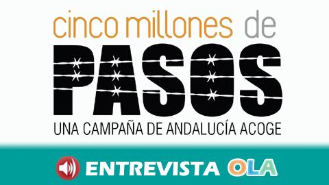 La campaña Cinco Millones de Pasos de la Federación Andalucía Acoge visibiliza la situación de las personas refugiadas y demandantes de asilo
