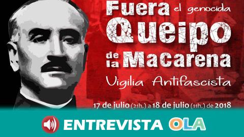 Una vigilia antifascista exige en Sevilla la retirada de los restos de Queipo de Llano de la Basílica de la Macarena