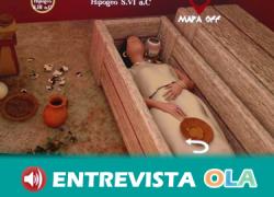 Una app de realidad aumentada nos recrea una de las tumbas fenicias de la Necrópolis de Villaricos