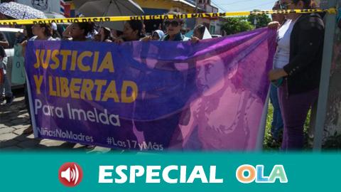 Activista salvadoreña recorre Andalucía denunciando la restrictiva ley del aborto de su país que encarcela a mujeres en cualquier supuesto