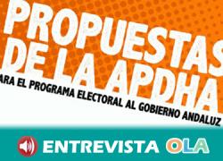 2D: APDHA pide que los partidos incluyan en sus programas electorales una Ley de Inclusión Social