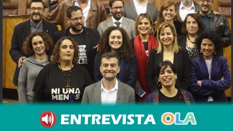 Antonio Maíllo: «El PSOE aún está en shock y Adelante Andalucía fue la que levantó la bandera de varias agresiones que se produjeron al autogobierno en Andalucía»