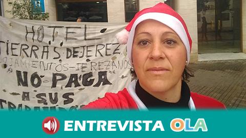Más de 90 días de acampada de Manuela Vargas para reclamar que el Hotel Tierras de Jerez le pague lo que le debe