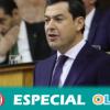 """Juanma Moreno asegura que su ejecutivo está obligado al diálogo con otras formaciones políticas """"sin cordones sanitarios"""""""
