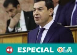 Juanma Moreno asegura que su ejecutivo está obligado al diálogo con otras formaciones políticas «sin cordones sanitarios»