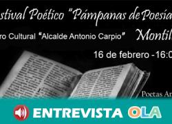 El Festival Poético «Pámpanos de Poesía» de Montilla quiere abrir la puerta de la literatura a la ciudadanía