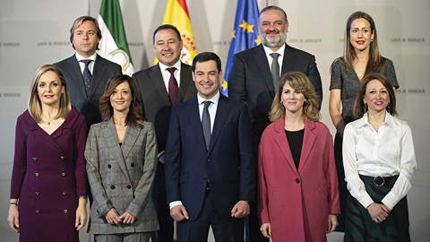 Los ocho nuevos delegados provinciales del Gobierno andaluz toman posesión de su cargo