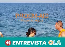 Personas migrantes pierden el miedo al mar con el Proyecto Agua de Proem-Aid después de una experiencia traumática