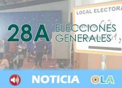 Los representantes de los principales partidos políticos ejercen sus derecho al voto y hacen declaraciones