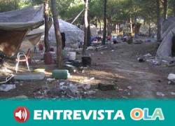 APDHA reclama medidas urgentes de alojamiento para las personas que habitan en los asentamientos chabolistas de Palos de la Frontera