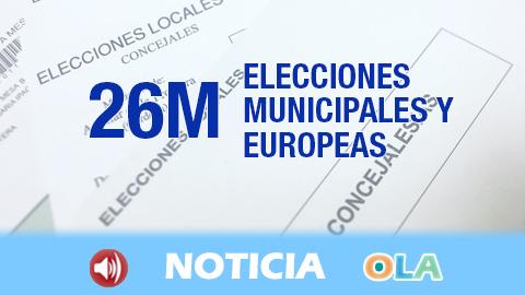 Las elecciones municipales y europeas arrancan en Andalucía con la constitución de la práctica totalidad de las 10.165 mesas electorales