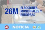 La participación en las municipales en Andalucía roza el 46 por ciento, un resultado muy similar a 2015
