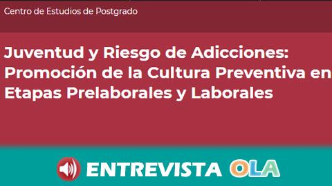 La Universidad de Jaén informa al alumnado sobre el riesgo de adicciones desde el entorno educativo al trabajo