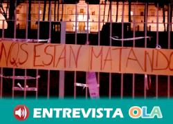 Andalucía despierta llena de lazos morados como acción de denuncia de los colectivos feministas de la comunidad