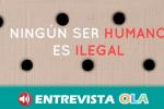 'Ningún ser humano es ilegal' es la performance con la que el alumnado de Bellas Artes de Granada denuncia las devoluciones en caliente