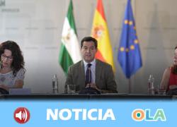 El presidente de la Junta de Andalucía asegura que el presupuesto para 2019 fortalece las políticas de igualdad