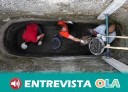 Un grupo de arqueólogos descubren una noria dentro de una de las cisternas Ibero-romanas del yacimiento arqueológico de El Laderón en Doña Mencía