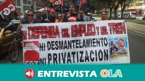 CGT denuncia el desmantelamiento del servicio ferroviario público en el centro de Andalucía
