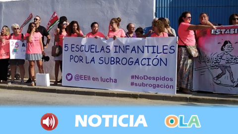 Las trabajadoras de escuelas infantiles despedidas en Andalucía vuelven a movilizarse exigiendo sus puestos de trabajo