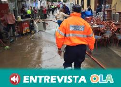 José Antonio Ayala, alcalde de Nerva, asegura que es necesaria una actuación urgente para evitar que se repita el desbordamiento del arroyo Santa María