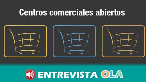 Los Centros Comerciales Abiertos de Andalucía piden a la Junta que vuelva a poner en marcha las ayudas al sector paralizadas desde 2018