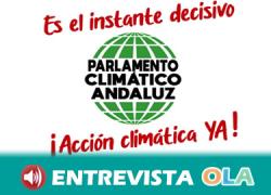 El 'Parlamento climático andaluz' se cita de nuevo este miércoles coincidiendo con el pleno de la Cámara autonómica